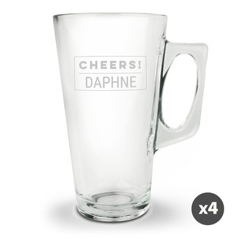 Latte macchiato-glas - 4 stykker