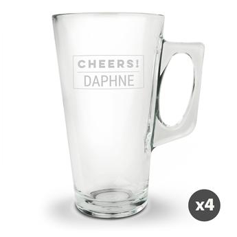 Latte macchiato glass - set of 4