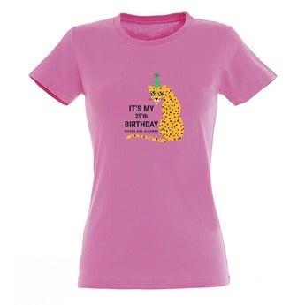 T-shirt - Vrouw - Roze - L