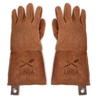 Skórzane rękawice kuchenne