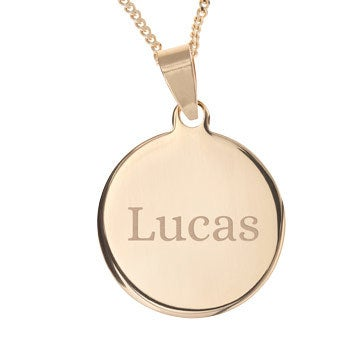 Name Pendant - Round (Gold-plated)
