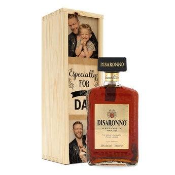 Amaretto Disaronno en caja personalizada