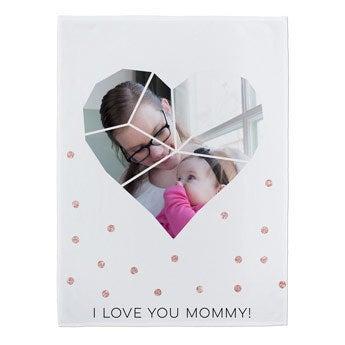 Coperta pile Festa della Mamma - 75 x 100 cm