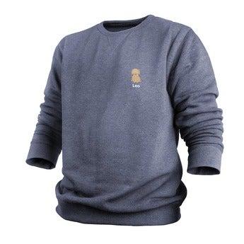 Custom sweatshirt - Menn - Indigo - XXL