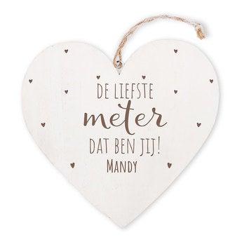 Meter - houten hart