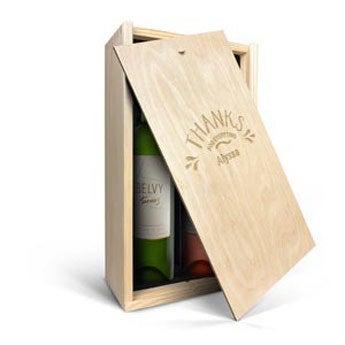 Belvy - Vit och rosé - I graverad låda