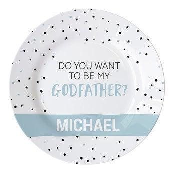 Vil du være min gudfar - tallerken