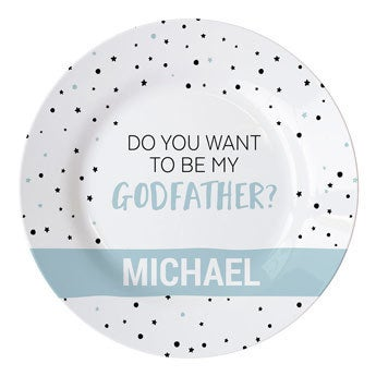 Will you be my godfather - plate