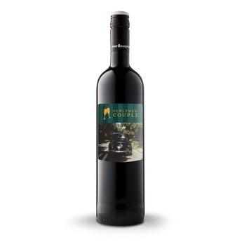 Wino Luc Pirlet Merlot z etykietą