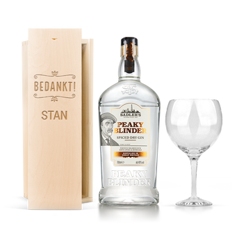 Coffret gin Peaky Blinders - couvercle gravé