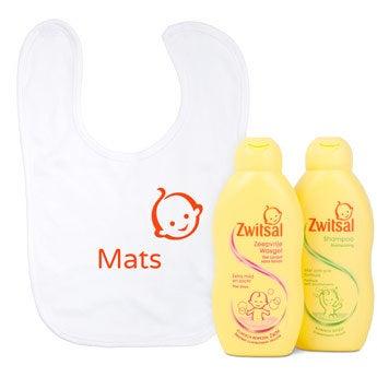 Babypflege Set + Lätzchen mit Namen