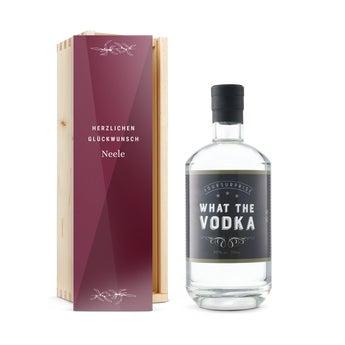 YourSurprise Vodka - mit bedruckter Holzkiste