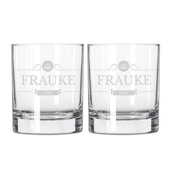 Whiskyglas mit Gravur (2 Stück)