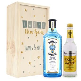 Gin og tonic sæt - Bombay Saphire - Autentisk