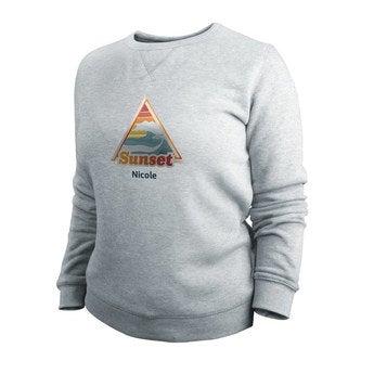 Pullover Damen bedrucken - Grau - XL
