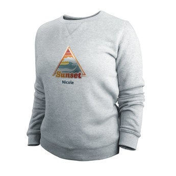 Tyckt tröja - Kvinnor - Grå - XL
