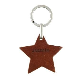 Schlüsselanhänger personalisiert - Stern