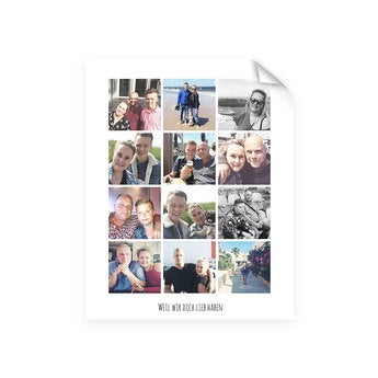 Foto Collage Poster - Papa & ich (40x50)