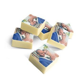 Chocolats personnalisés carrés x15
