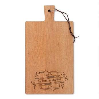 Tábua de cortar de madeira - Beech - Rectangle - Portrait (M)