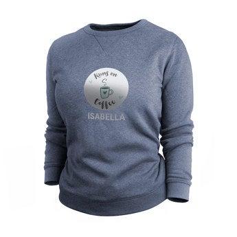 Custom sweatshirt - Women - Indigo - XXL