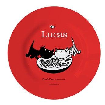 Placa de Pim & Pom para niños: disfruta de tu comida