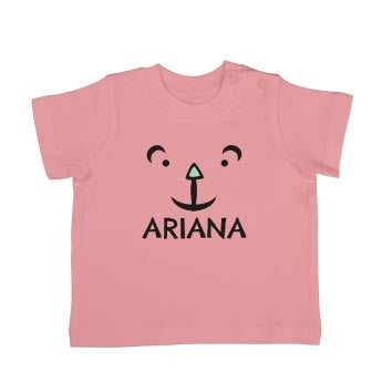 T-shirt til babyer - Korte ærmer - Lyserød - 62/68