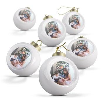 Boules de Noël en céramique (6 pièces)