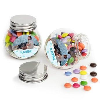 Sjokolader i glasskrukke - sett med 40
