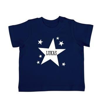Baby T-Shirt - Kurzam - Dunkelblau - 50/56