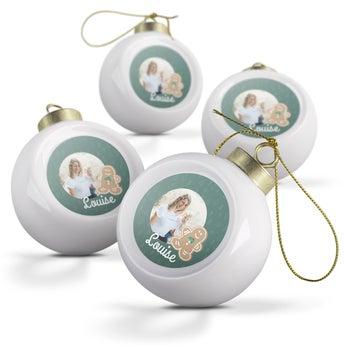Boules de Noël en céramique (4 pièces)