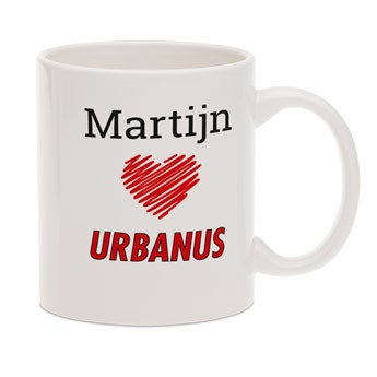 Urbanus mok met tekst