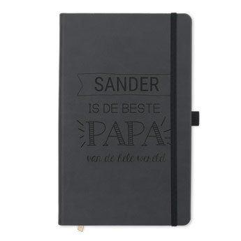 Vaderdag notitieboek met naam - Zwart