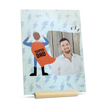 Tarjeta de madera - Vertical- Día del Padre