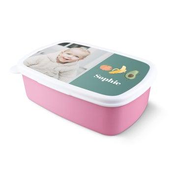 Pojemnik na kanapki - różowy