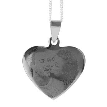 Pendant - Heart (Rhodium)