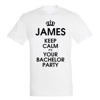 T-shirt - Mænd - Hvid - L