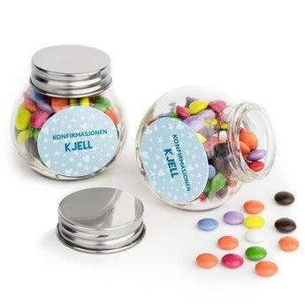 Sjokolader i glasskrukke - sett