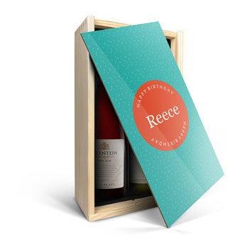 Set de vinos en caja de madera personalizada- Salentein