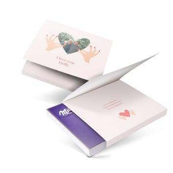 Caixa de presente Milka - Amor (110 gramas)