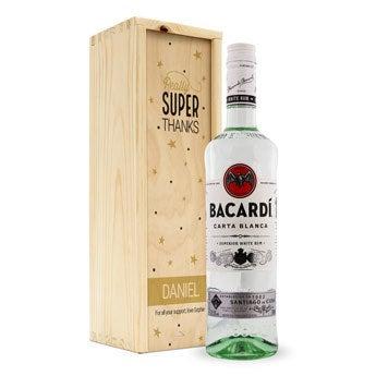 Bacardi bílý rum - v personalizované krabici