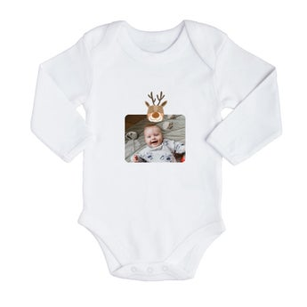 Baby romper - First Christmas - White - 74/80