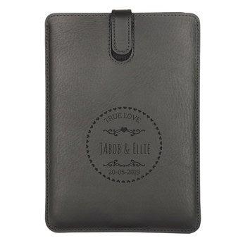iPad Mini- Custodia in Pelle - nera