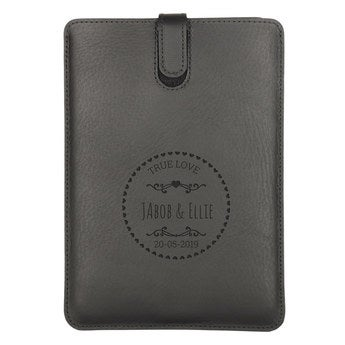 iPad Mini leather case - Black
