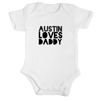 My first Father's Day romper - White-50/56