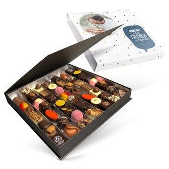 Chocolates de luxo do dia dos pais