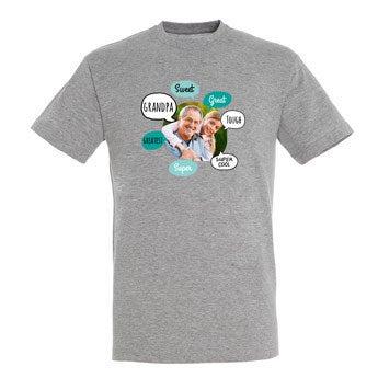 Bedstefar skjorte - Grå - L.