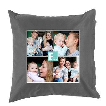 Cushion - Dark grey - 40 x 40 cm