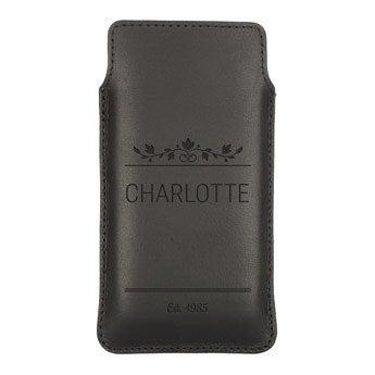 Housse portable cuir - L  - Noir
