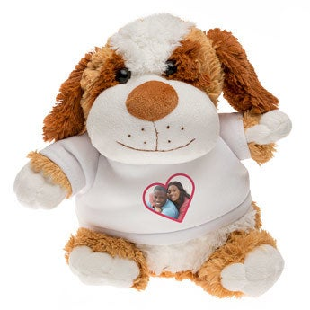 Personalised cuddly toy with photo - Dog